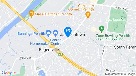 Quality Inn Penrith Map
