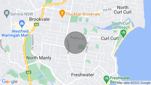 Architecturally Designed Sydney Beach Home Map