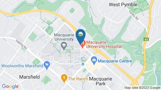 Travelodge Hotel Macquarie North Ryde Sydney Map