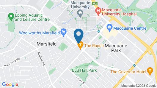 New Resort Style Urban Village in Macquarie Park Map