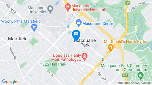 Holiday Inn Express Sydney Macquarie Park, an IHG Hotel Map
