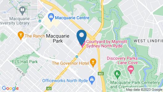Courtyard by Marriott Sydney-North Ryde Map