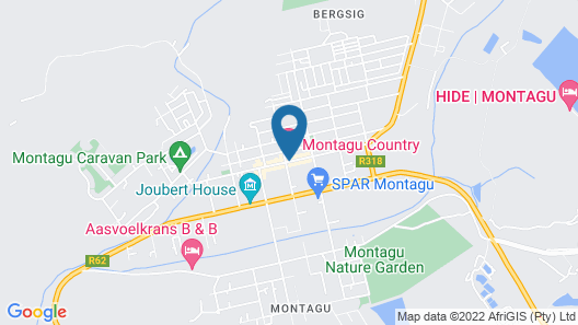 Montagu Country Hotel Map