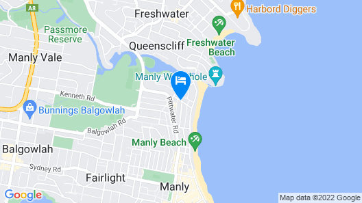 Manly Waves Hotel  Map