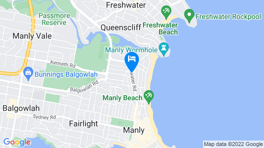 Manly Beach House Map