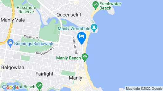 Manly Beachfront Apartment Map