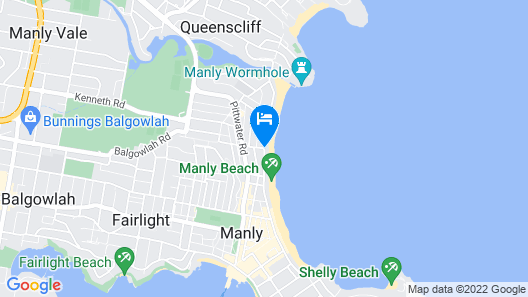 Manly Surfside Holiday Apartments Map