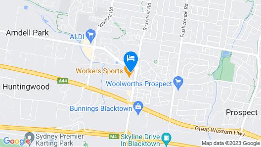 Travelodge Hotel Blacktown Sydney Map
