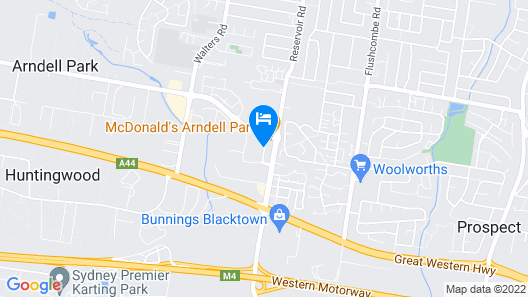 Travelodge Hotel Blacktown Sydney Map