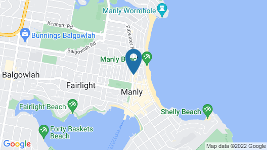 Manly Beachside Apartments Map