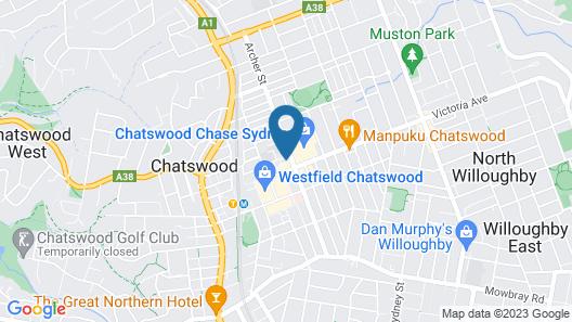Silkari Suites Chatswood Map