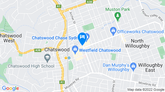 1 Bedroom Modern Apartment in Chatswood Map