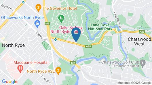 Oaks Sydney North Ryde Suites Map