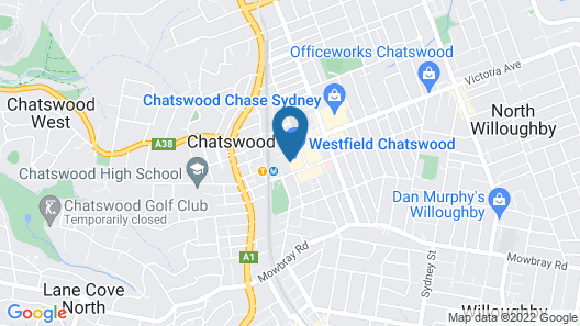 The Sebel Sydney Chatswood Map