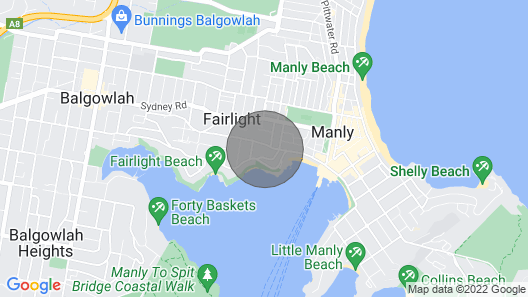 Manly Studio Apartment - Great Location Map