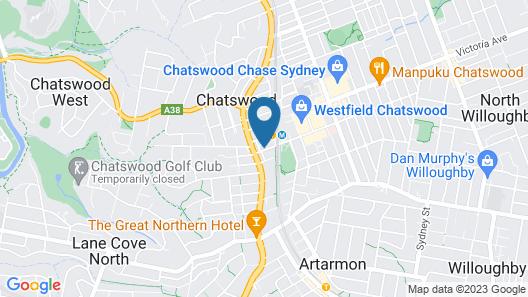 Meriton Suites Chatswood Map