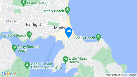 The Manly Lodge Boutique Hotel Map
