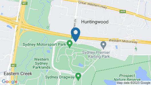 Alpha Hotel Eastern Creek Map