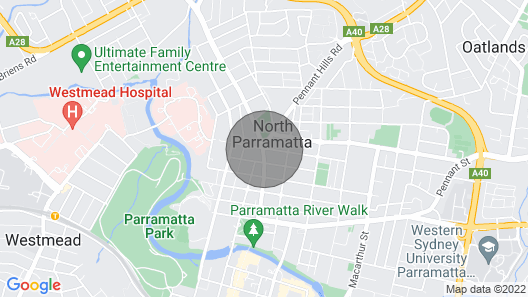 Apartment With Views of Parramatta & Blue Mountains Map