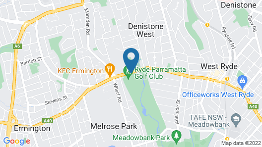 The Select Inn Ryde Map