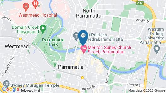 Novotel Sydney Parramatta Map
