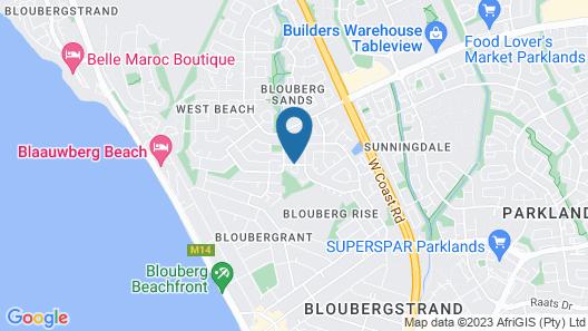 West Beach Cottages Map