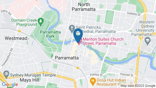 Meriton Suites Church Street, Parramatta Map