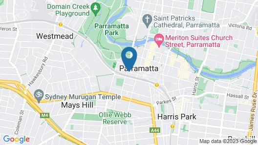 SKYE Hotel Suites Parramatta Map