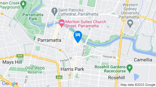 Stylish Modern Apartment In Parramatta CBD Map