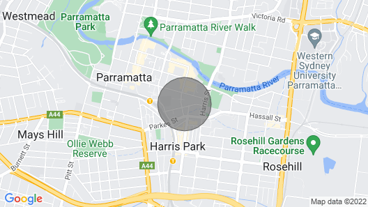 Charleston 2br-2br Parramatta + Free Car Park Map
