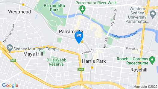 Astra Apartments - Paramatta Map