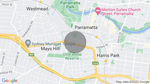 Parramatta Heart of Sydney 2 Bedroom Apartment Map