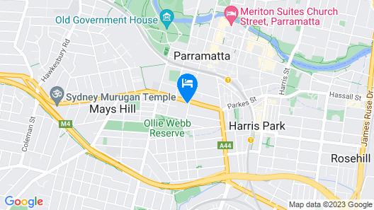 Marsden Hotel Parramatta Map