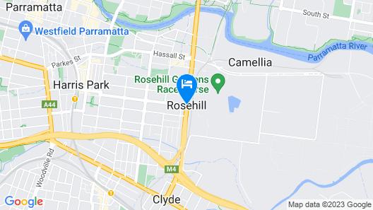 Rydges Parramatta Map