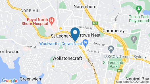 STAY&CO Serviced Apartments - Crows Nest Map