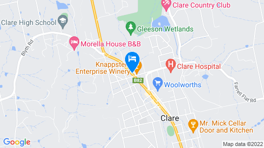 Comfort Inn Clare Central Map