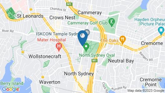 North Sydney Hotel Map
