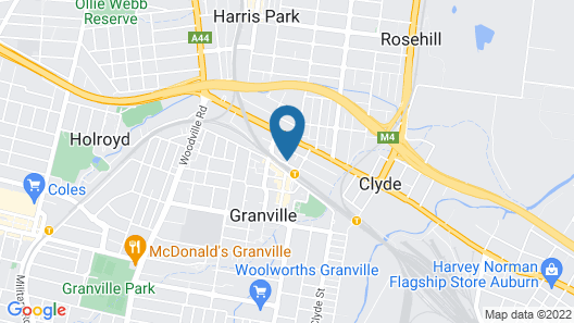 The Granville Hotel Map