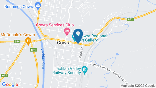 Golden Chain Aalana Motor Inn Map