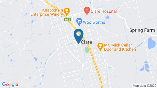 Clare Valley Heritage Retreat Map