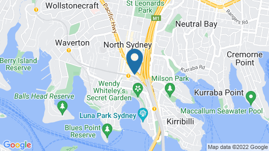 View Sydney  ( North Sydney Harbourview Hotel) Map