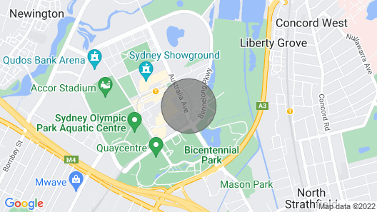 Australia Tower-high Level With Sunset View Olympic Park-qudos ANZ Map
