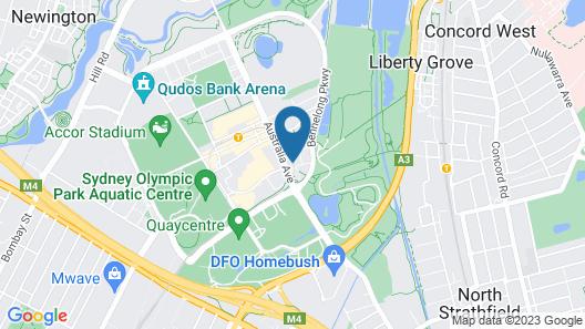 Sydney Olympic Park Apartment Map