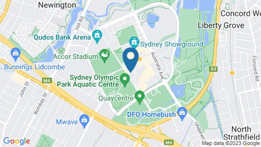 Novotel Sydney Olympic Park Map