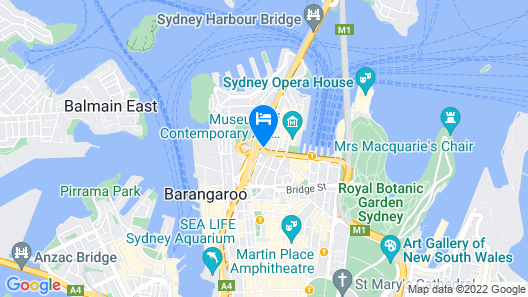 Sydney Harbour Bed & Breakfast Map