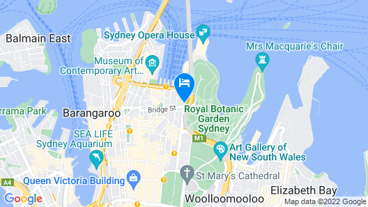 InterContinental Sydney Map