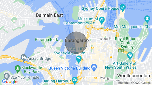 Water Front CBD Apartment ICC Accomodation Map