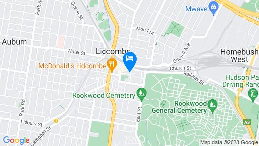 Lidcombe Motor Inn Map