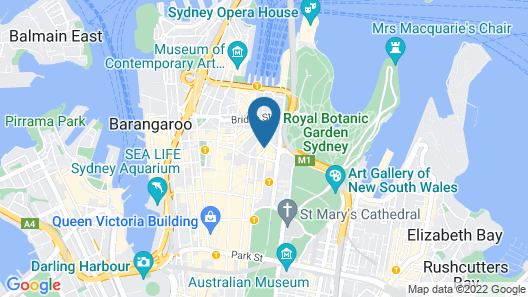 Sofitel Sydney Wentworth Map