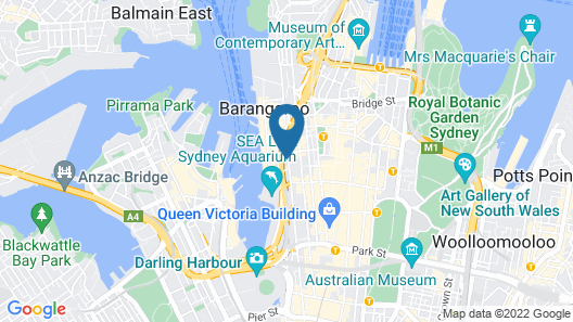 West Hotel Sydney, Curio Collection by Hilton Map